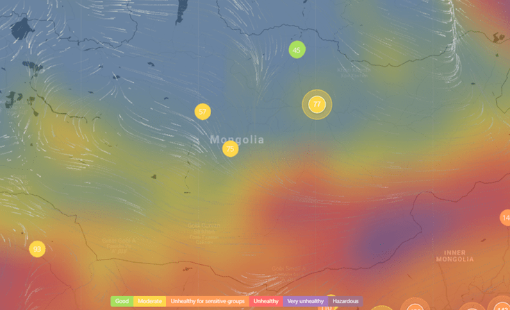 Crowdsourced Air Quality World Map