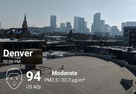 Denver Colorado air pollution