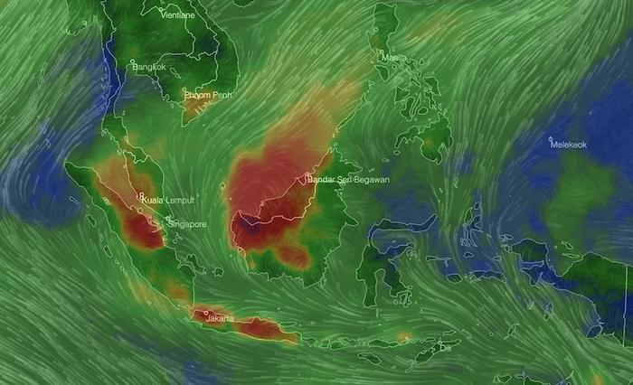 Cities in Sarawak, Malaysia experience fifth straight day of hazardous air pollution