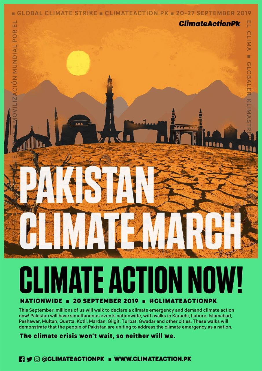 Global Climate Strikes poster in Pakistan